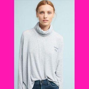 Sundry Loose Fit No Bad Days Turtleneck Sweater